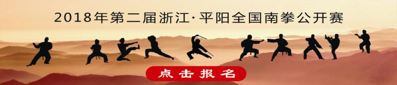 2018年第二届浙江·平阳全国南拳公开赛