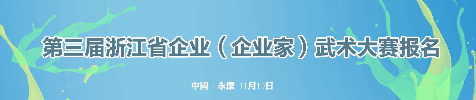第三届浙江省企业(企业家)武术大赛